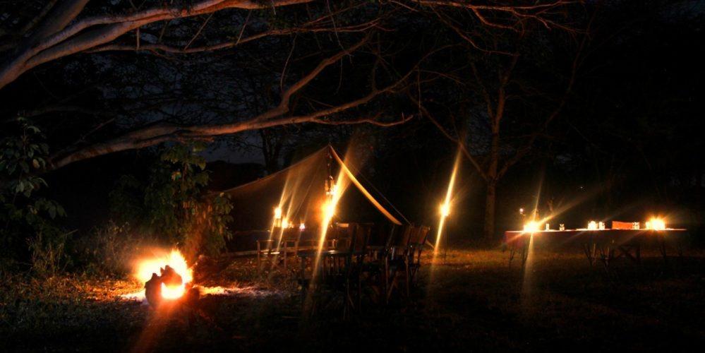 Borana Camp at night
