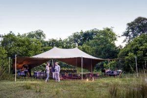 Botswana Mobile Safari Mess tents