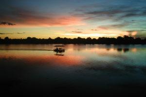 Busanga plains Mukambi Safaris boat cruise