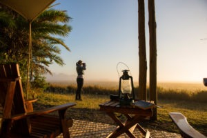 Busanga plains game viewing from camp