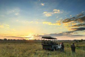 Busanga zambia mobile game drive sunset