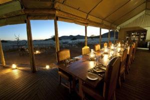 Desert Rhino Camp Main Area Dinner Table