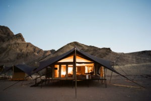 Hoanib Valley Camp Accommodation tent exterior