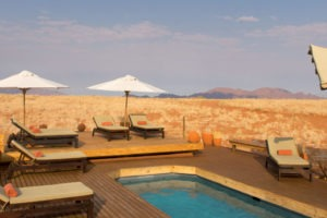 Wolwedans Dune Lodge Swimming Pool View