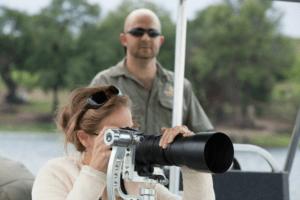 boating photo safari teacher