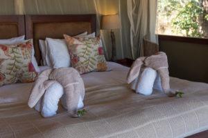camp hwange bedroom towels