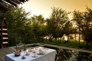 chobe bakwena lodge pool view