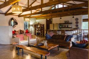 chobe elephant camp lounge area