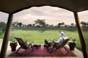 duba expedition camp botswana guest deck