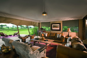 duba expedition camp botswana lounge