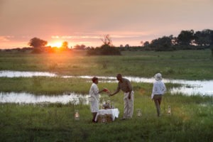 duba expedition camp botswana sundowners