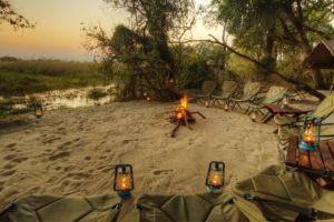 footsteps sunset fire