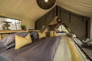 gomoti camp machaba double bed