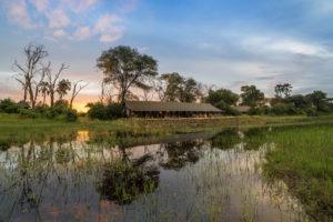 gomoti camp machaba lodge distance