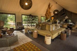 gomoti camp machaba lounge area