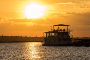 houseboat photographic safari chobe river sunset boat