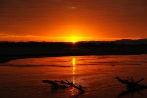island bush camp sunset