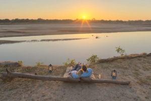 kakuli camp guests sunset