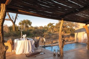 kings camp timbavati honeymoon dinner