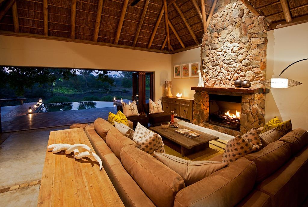 klaserie sands indoor fireplace