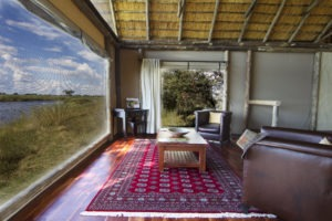 kwando lagoon camp room interior