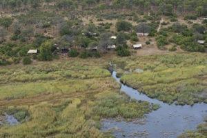 linyanti bush camp aerial shot