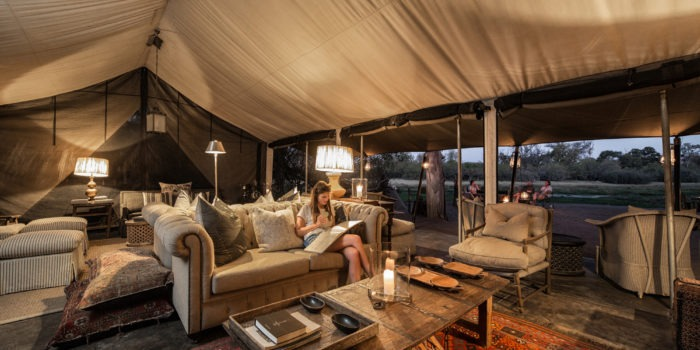 machaba camp lounge area