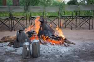 mashatu tented camp fire