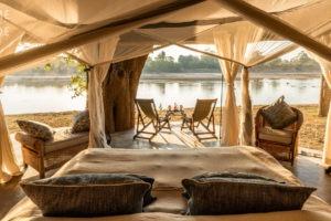 mchenja camp bedroom river view