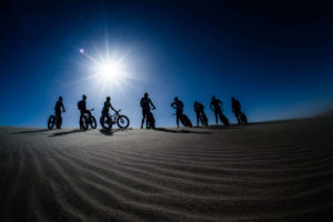 namibia fat bike group sun photo