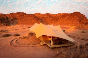 northern namibia Hoanib Skeleton Coast Camp Guest Tent