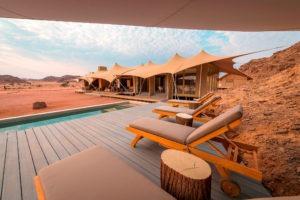 northern namibia Hoanib Skeleton Coast Camp Pool Deck