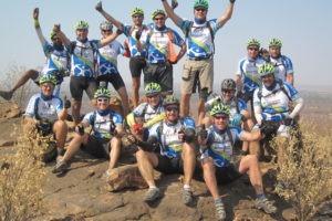 northern tuli botswana cycling safari group victory photo