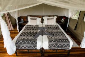 sango safari camp khwai bed close
