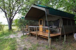 sango safari camp khwai tent deck