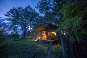 sango safari camp khwai tent night