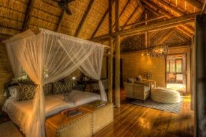 savuti safari lodge bed mosquito net
