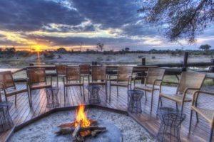 savuti safari lodge fireplace