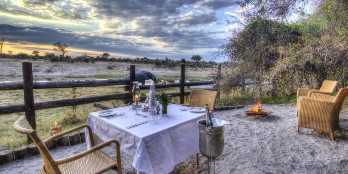 savuti safari lodge private dinner