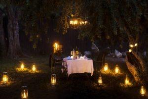 simbavati timbavati romantic dinner