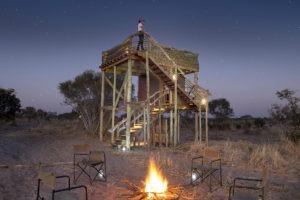 skybeds khwai reserve fireplace
