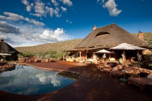 tswalu kalahari deck pool