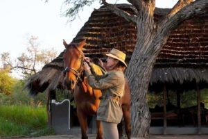 Makgadikgadi Botswana horse riding saddle up