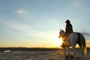 Makgadikgadi Botswana horse riding sun set ride