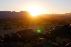 Northen Namibia Damaraland sunrise