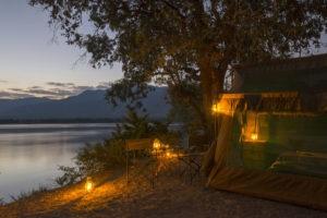 camp zambezi mana pools tent outside