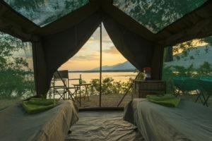 camp zambezi mana pools tent view