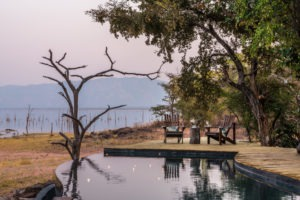 changa safari camp pool with view