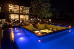 chobe pangolin hotel pool night