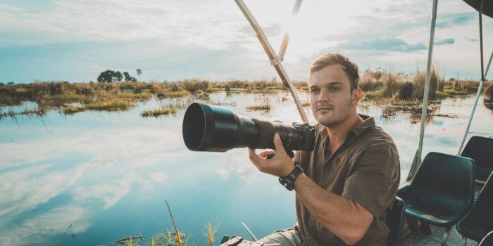 frank photography okavango delta boating safari botswana